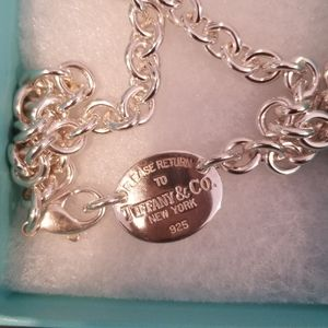 Authentic Tiffany Oval Tag Necklace